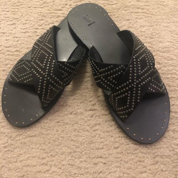 Frye Shoes - Frye studded slides
